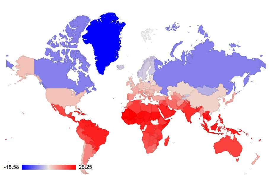 Temperature and Weather conditions of the world - Temperature Sensei